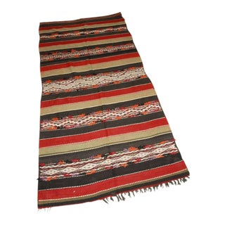 Vintage Moroccan Tribal Kilim Rug North Africa For Sale