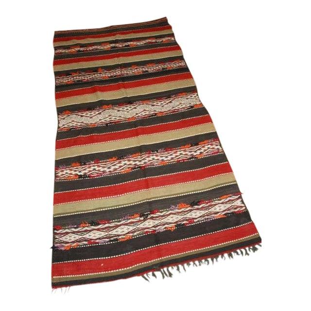 Vintage Moroccan Tribal Kilim Rug North Africa For Sale
