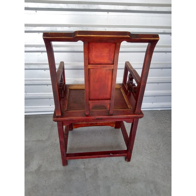 Asian Late 19th Century Antique Chinese Officials Chair For Sale - Image 3 of 13