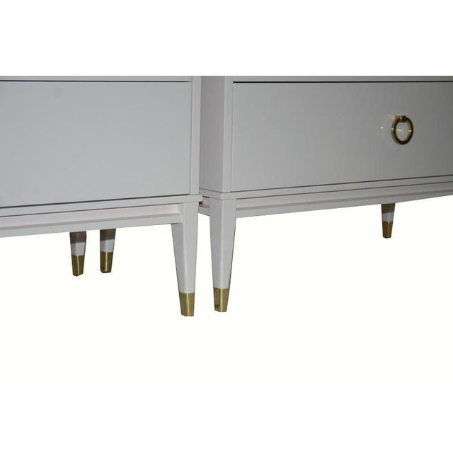 Customizable Lacquered Marble-Top Night Table For Sale - Image 4 of 6