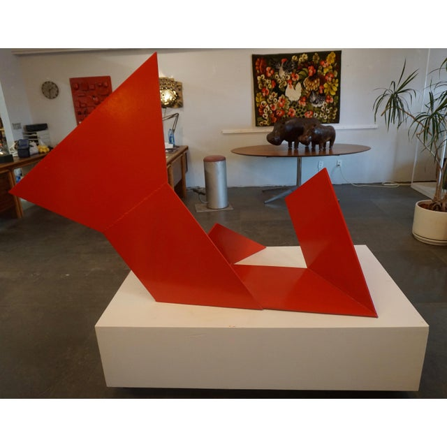 Abstract Abstract Steel Sculpture by Betty Gold For Sale - Image 3 of 7