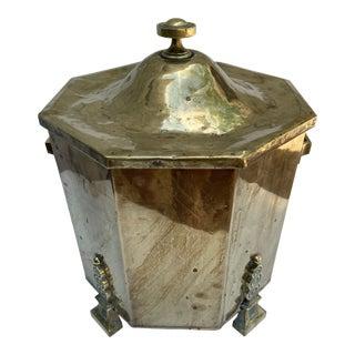 Antique Brass Coal Scuttle For Sale