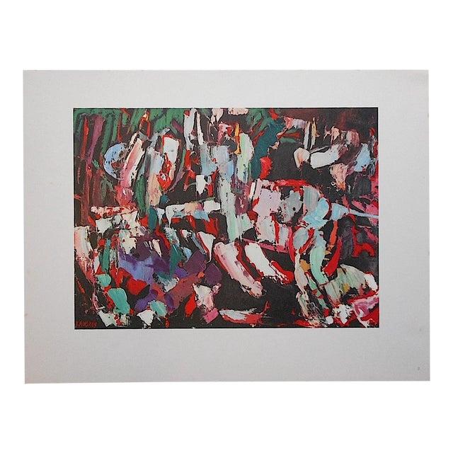 Vintage Modernist Lithograph-Lanskoy For Sale