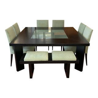 Creative Elegance Dining Table + Chairs + Bench Set For Sale
