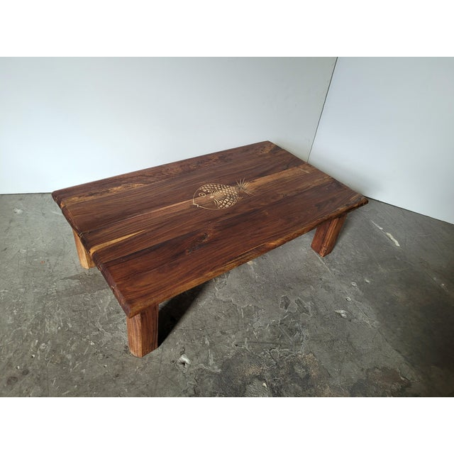 Brazilian Rosewood Indoor/Outdoor Coffee Table For Sale - Image 9 of 9