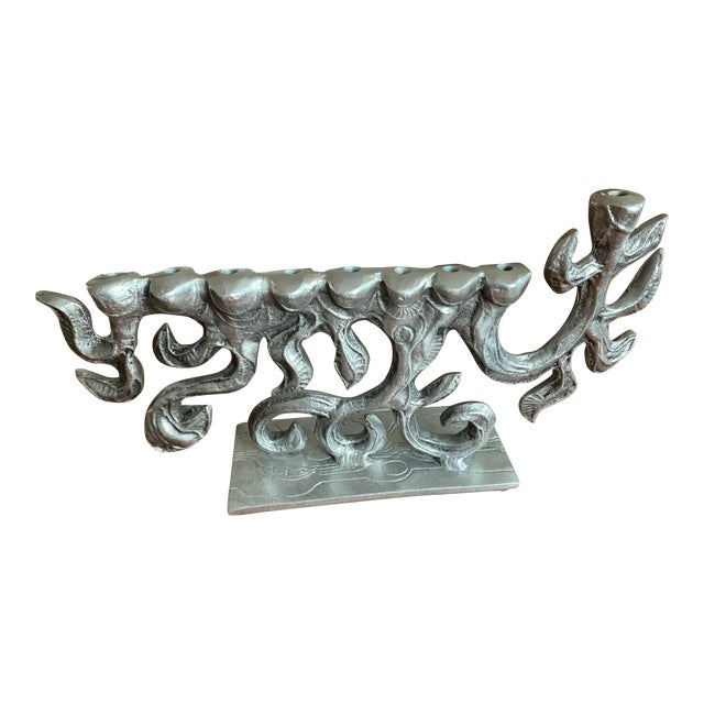 Brutalist 1970s Menorah by Donald Drumm For Sale