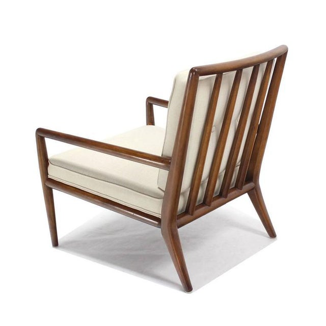 White Newly Upholstered Gibbings Lounge Arm Chair For Sale - Image 8 of 8