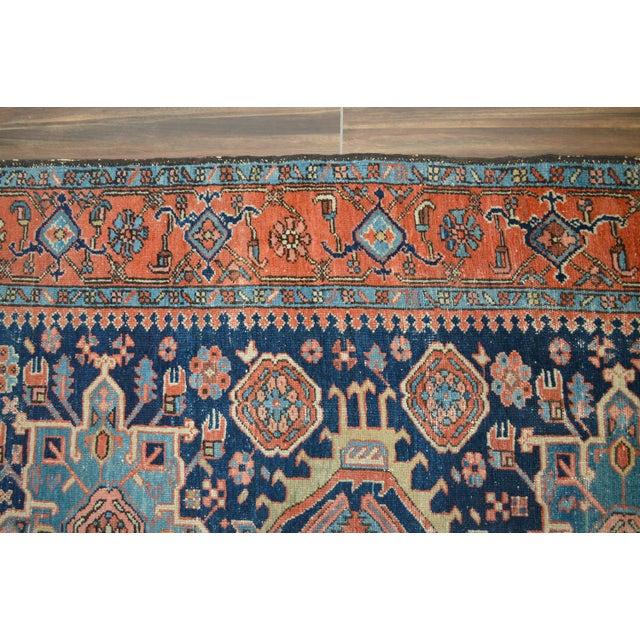 """Antique Persian Heriz Rug - 4'8"""" X 6'2"""" - Image 6 of 6"""