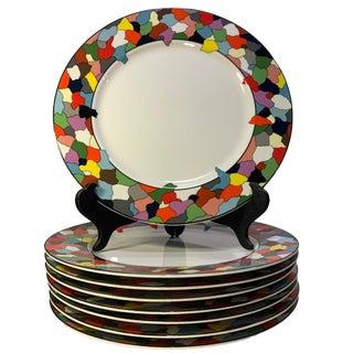 "Post Modern Taitu ""Dieci"" Chop Plates by Emilio Bergamin - Set of 8 For Sale"