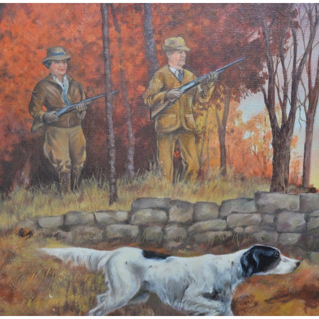 """Brown John Lawrence Murray """"The Hunt"""" Original Oil Painting C.1941 For Sale - Image 8 of 9"""