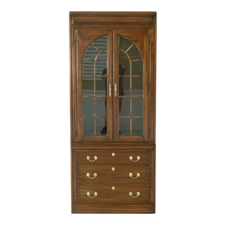 Harden Solid Cherry Light Curio Display Bookcase Cabinet For Sale