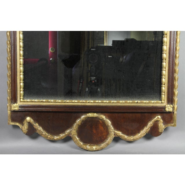 Early 19th Century Danish Neoclassical Mahogany and Parcel Gilt Mirror For Sale - Image 5 of 7