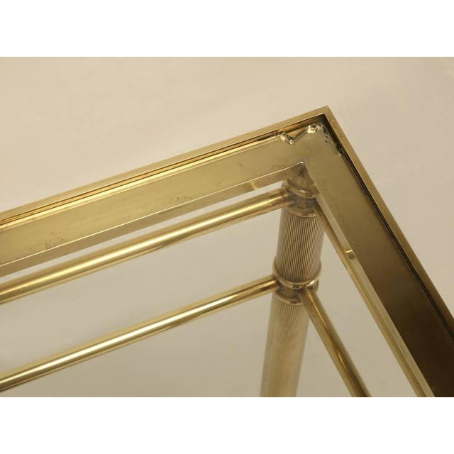 Gold Mid-Century Modern Brass End Table with Paw Feet For Sale - Image 8 of 10