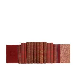 Vintage Scarlet Classics - Set of Fourteen Decorative Books