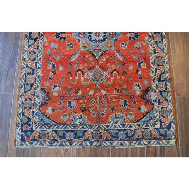 "Vintage Persian Lilihan Rug - 4' x 5'11"" For Sale - Image 4 of 11"