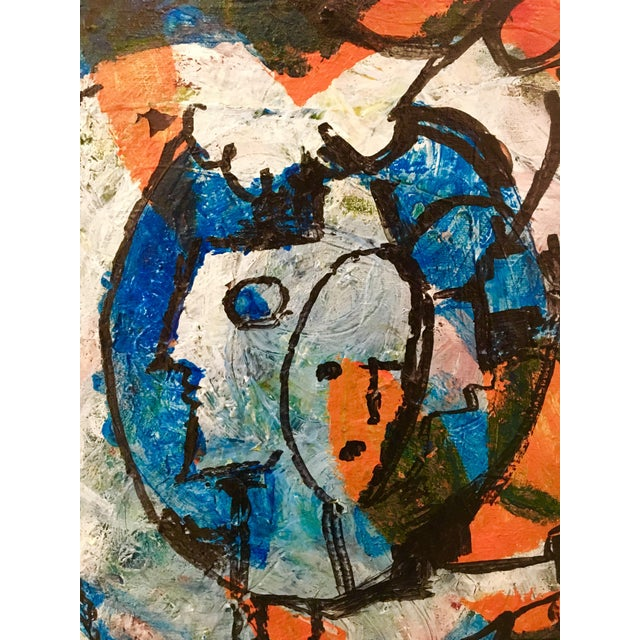 Abstract Oil Painting on Canvas by Janet Snell For Sale In West Palm - Image 6 of 9