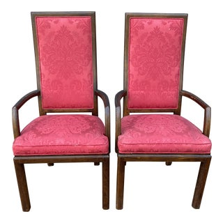 1970s Vintage Henredon Upholstered Arm Chairs- a Pair For Sale