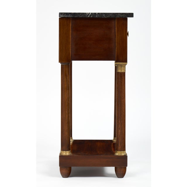 Empire Style Marble Top Side Tables- A Pair - Image 5 of 10