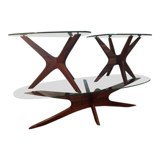 Adrian Pearsall Jacks Coffee & Side Table - Set of 3 For Sale