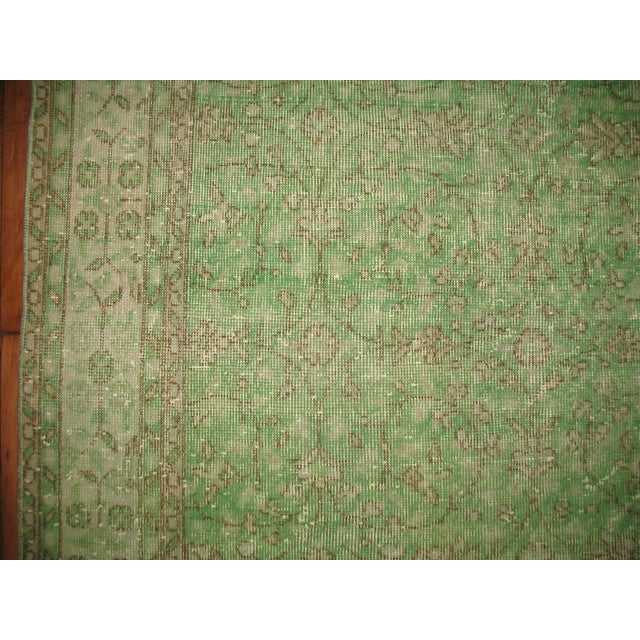 Turkish Green Over-Dyed Rug - 7'1'' X 10'5'' - Image 4 of 5