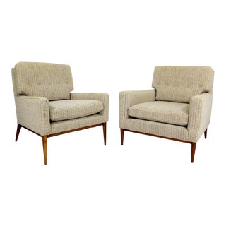 Paul McCobb for Directional Mid Century Modern Lounge Chairs - a Pair For Sale