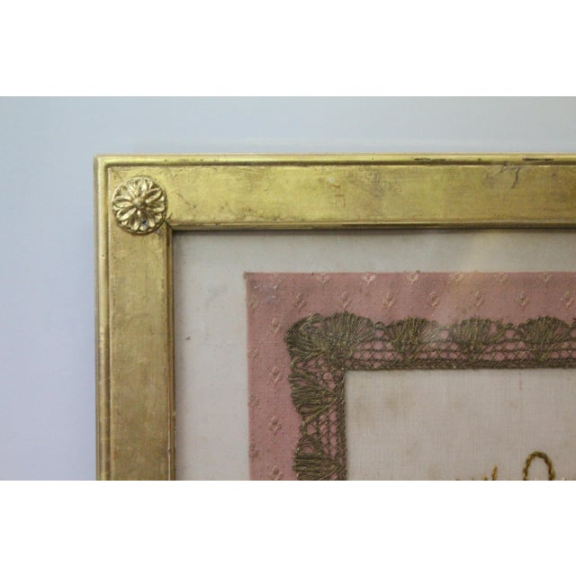 Gilded Thread Framed Embroidery For Sale - Image 4 of 7