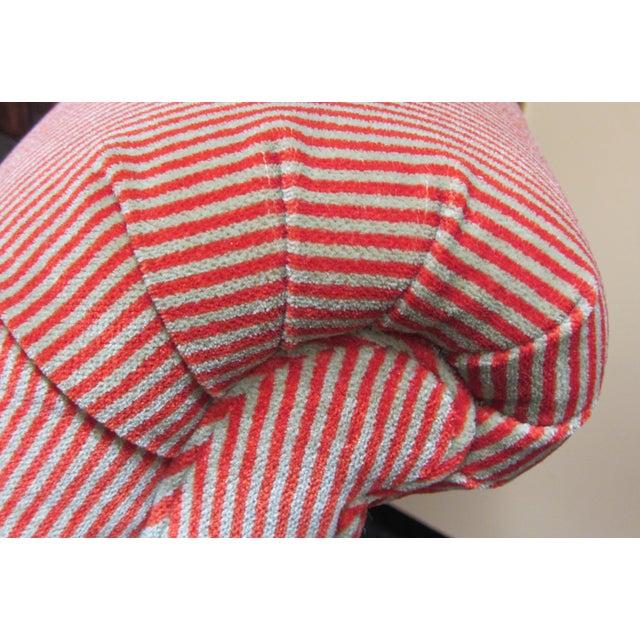 A. Rudin Velvet Stripe Lounge Chair - Image 5 of 9