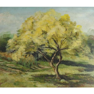 Spring Tree Landscape Painting For Sale