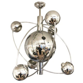 Orbital Mid-Century Chandelier For Sale