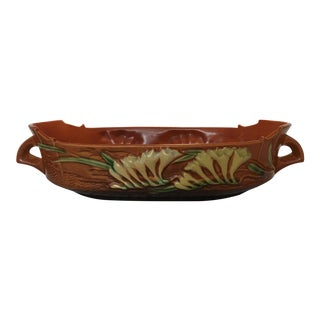 "Roseville Pottery ""Freesia"" Oval Console Jardinere For Sale"