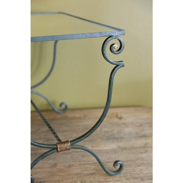 Metal Set Three French Mirrored-Top Iron Nesting Tables For Sale - Image 7 of 9