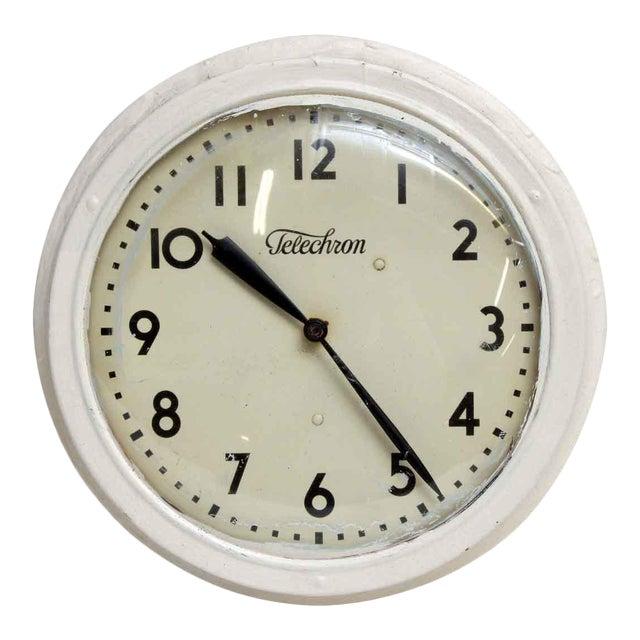 Vintage Painted Telechron Clock For Sale