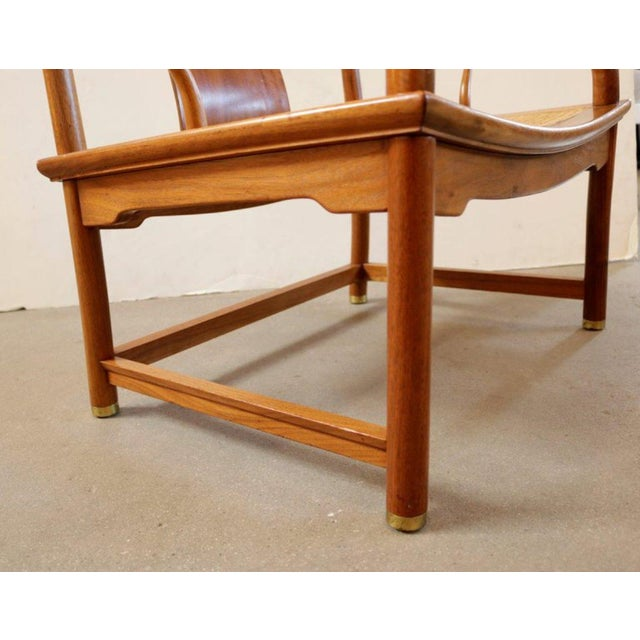Mid 20th Century Michael Taylor for Baker Far East Collection Caned Chair For Sale - Image 5 of 7