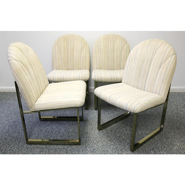 Gold Thayer Coggin Mid-Century Dining Chairs - Set of 4 For Sale - Image 8 of 13