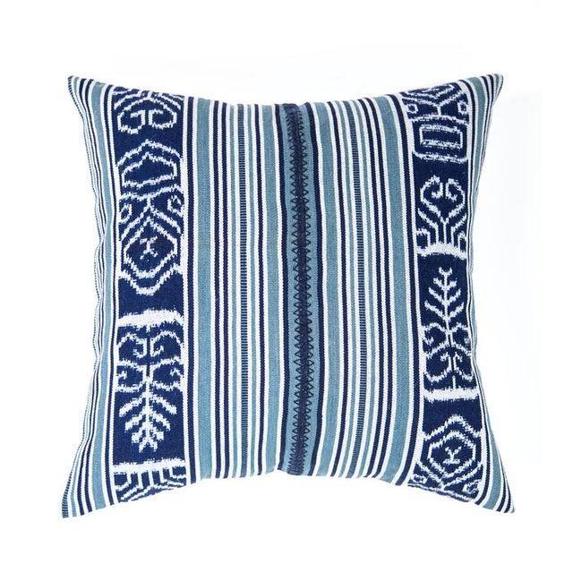 Indigo & Teal Guatemalan Ikat Pillow - Image 6 of 6