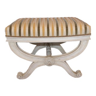 Michael Taylor Velvet & Silk Upholstery Benches - a Pair For Sale