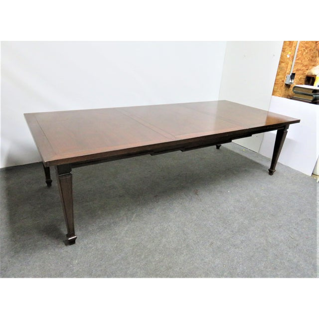 Italian Style Walnut Dining Table For Sale - Image 9 of 9