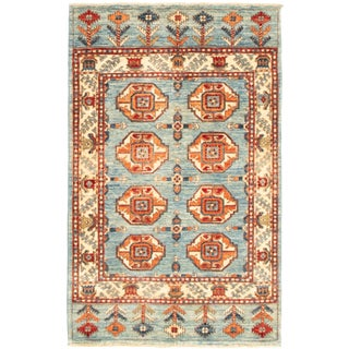 """Peshawar Ziegler Hand-Knotted Rug-3'1"""" X 4'10"""" For Sale"""