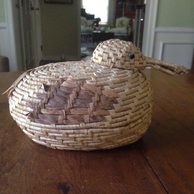 Vintage Natural Wicker/ Straw Bird Basket - Image 10 of 11