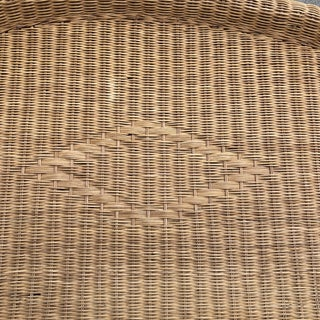 1970s Boho Chic Queen Wicker Bed Headboard Preview