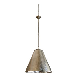 Contemporary Gumps Hammered Metal Light Cone Pendant For Sale