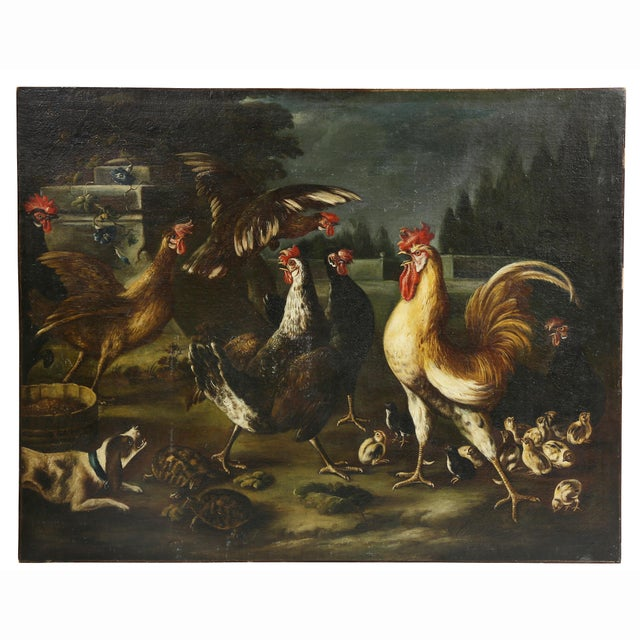 Oil on Canvas Painting Attributed to Hondecoeter For Sale - Image 12 of 12