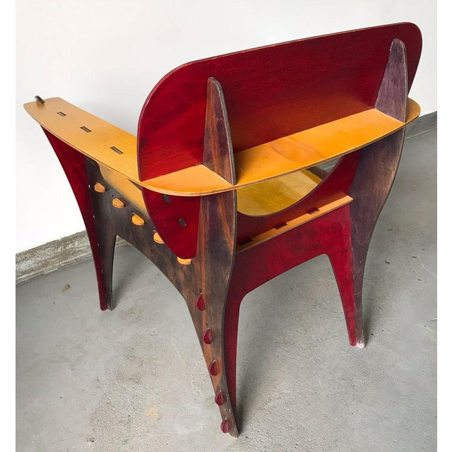 Red Modern Puzzle Chair by David Kawecki For Sale - Image 8 of 11