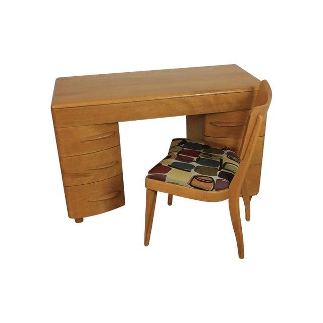 Heywood-Wakefield Kneehole Desk & Chair - Image 1 of 9