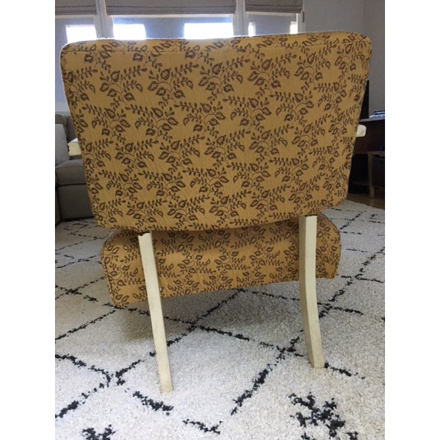 Vintage Mid-Century Upholstered Arm Chair For Sale In Los Angeles - Image 6 of 8