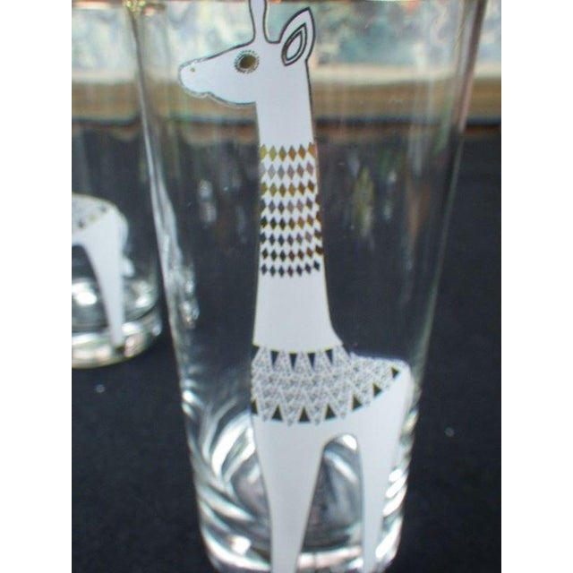 Contemporary Jonathan Adler Happy Chic Giraffe Tom Collins Glasses - Set of 3 For Sale - Image 3 of 7