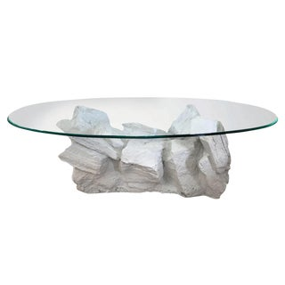 Sirmos Plaster Faux Quarry Coffee Table