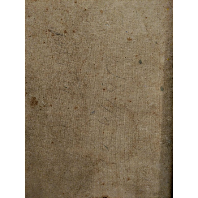 Canvas Edgar W. Johnson Mid-Century Abstract Painting For Sale - Image 7 of 8