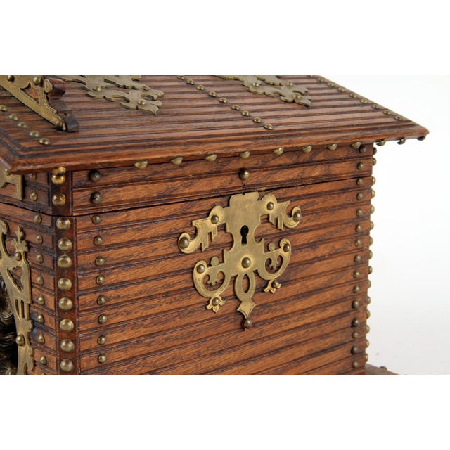 19th Century Antique Black Forest Cigar Box For Sale - Image 4 of 7
