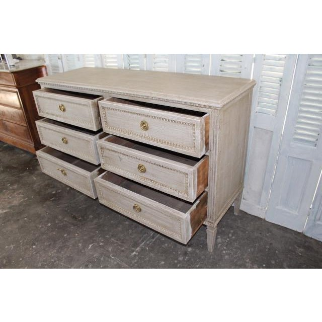 20th Century Swedish Gray Finish Chest of Drawers For Sale In Atlanta - Image 6 of 8
